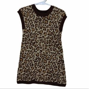 Old Navy Cheetah Sweater Dress Size 2T